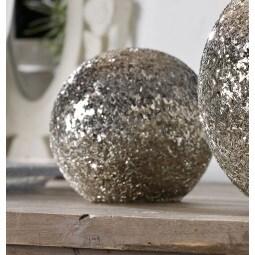 casaNOVA Deko-Kugel MOUNTAIN CHRISTMAS 10 cm Glas braun-gold