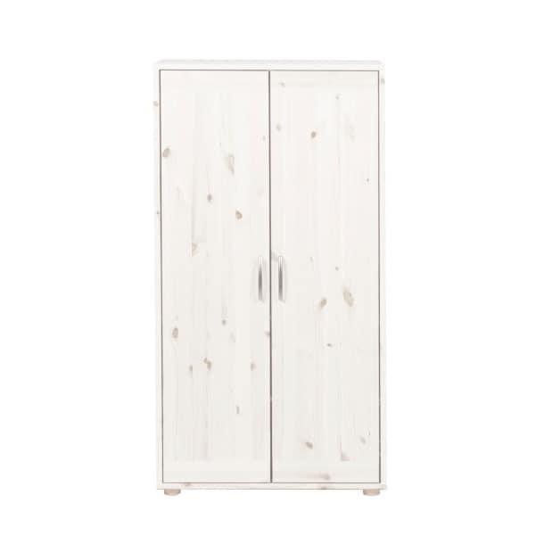Kleiderschrank 72 x 135 x 56 cm Holz weißBild 2