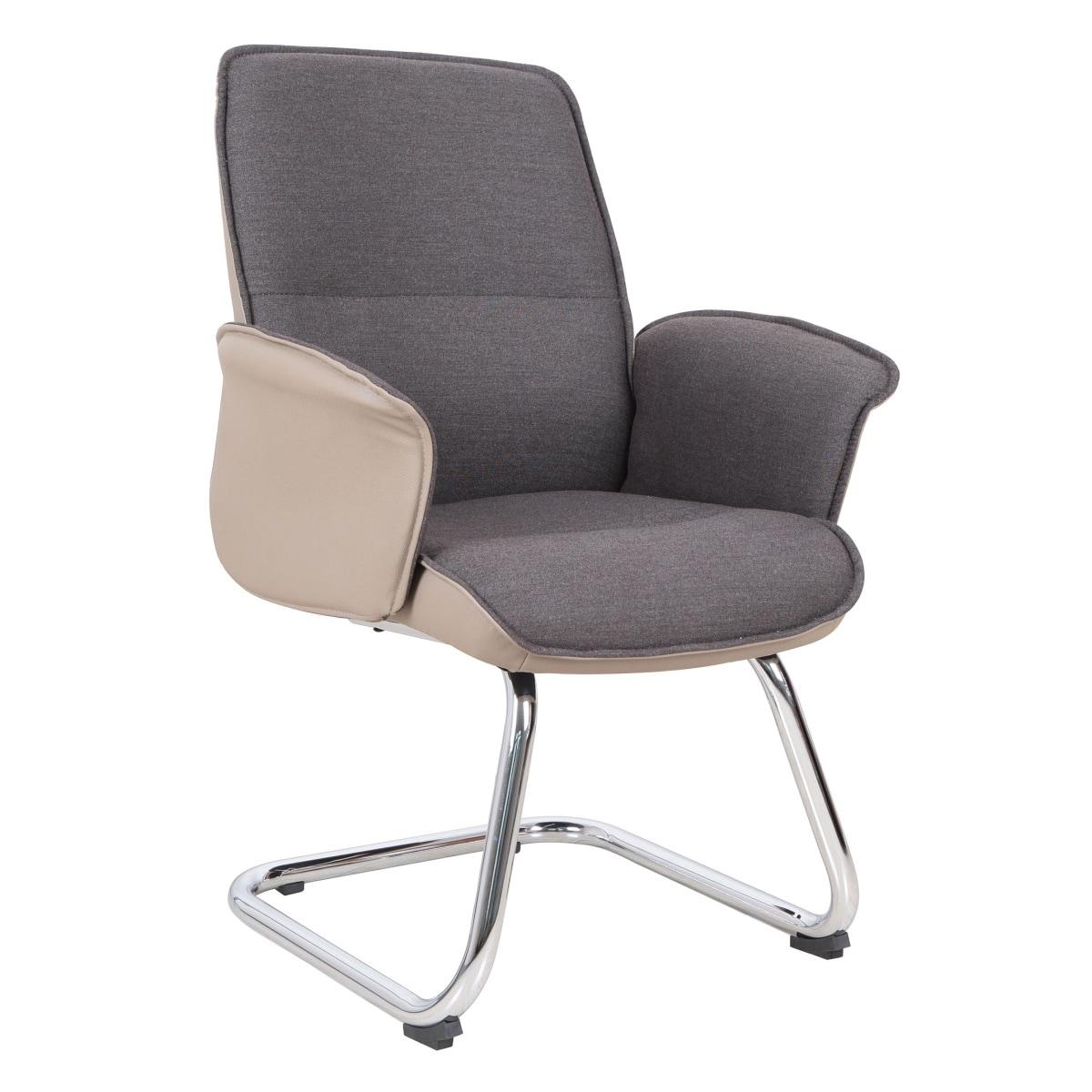 besucherstuhl preston stoffbezug braun ledelrook beige porta. Black Bedroom Furniture Sets. Home Design Ideas