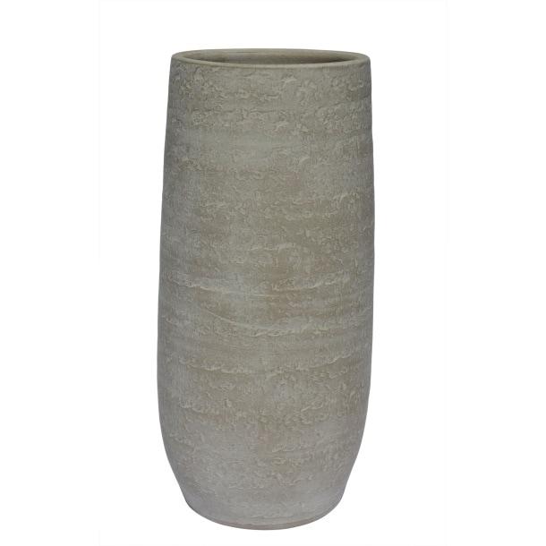 Keramik Vase H 30 O 15 Matt Altweiss