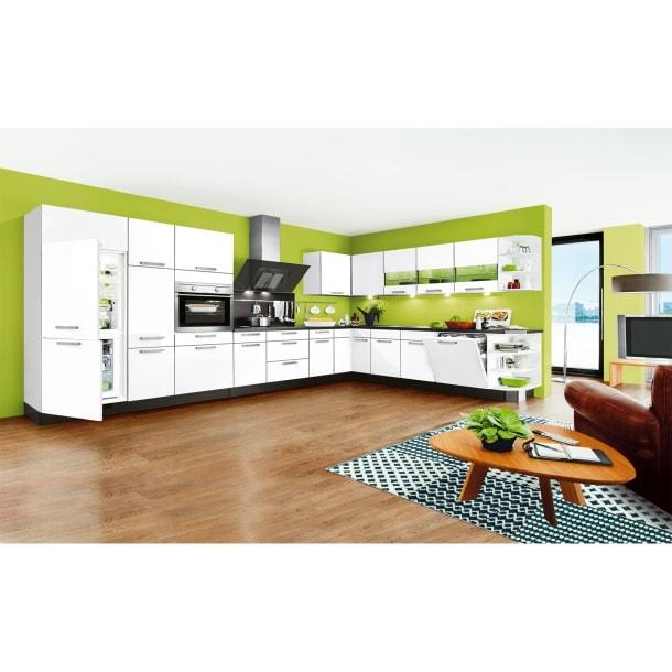 L-Küchenzeile FOCUS Weiß Lack Ultra-HochglanzBild 2