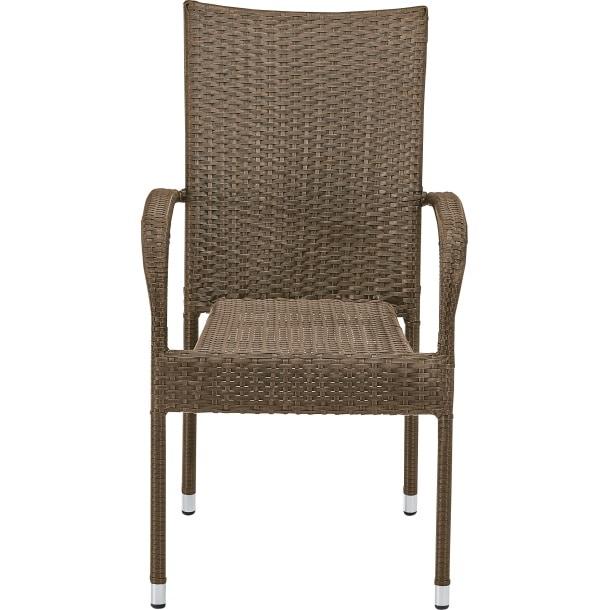 2er set stapelstuhl mit armlehnen jose braun porta. Black Bedroom Furniture Sets. Home Design Ideas