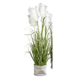 Kunstpflanze Head-Onion-Gras MEERESBRISE 124 cm