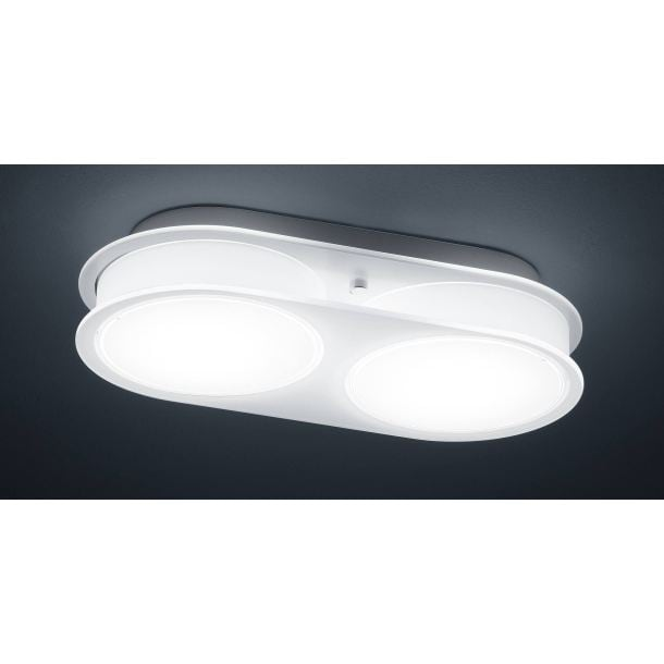 BANKAMP LED Deckenlampe 2 flg DUE VETRI