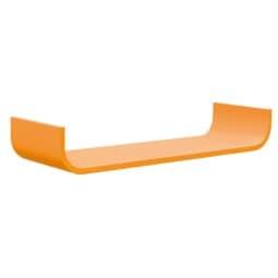 Wandboard CURVE Lack Orange ca. 80 x 12 x 25 cm