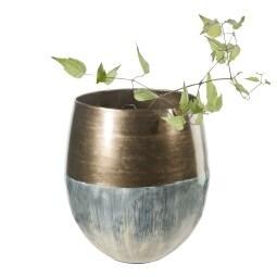 casaNOVA Vase MOUNTAIN CHRISTMAS 25 cm Metall blau