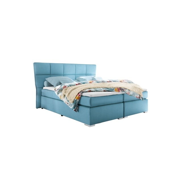 SELF Boxspringbett LOGAN Microvelour Aqua ca. 180 x 200 cm Bild 2