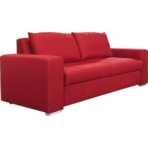 self schlafsofa semira stoffbezug rot ca 194 x 83 x 97 cm porta. Black Bedroom Furniture Sets. Home Design Ideas