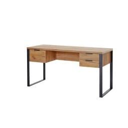 Schreibtisch 152 x 60 x 76 cm Holznachbildung braun