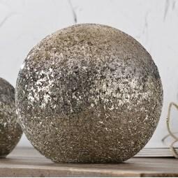 casaNOVA Deko-Kugel MOUNTAIN CHRISTMAS 15 cm Glas braun-gold