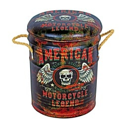 Phill Hill Hocker BARRELL 30 cm American Legend Motorcycle Design