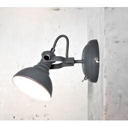 casaNOVA Retrofit Wandlampe mit 1 Spot CAMBRIDGE Betonfarbig