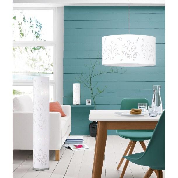 fischer honsel deckenlampe 2 flg flora wei mit ornamenten porta. Black Bedroom Furniture Sets. Home Design Ideas