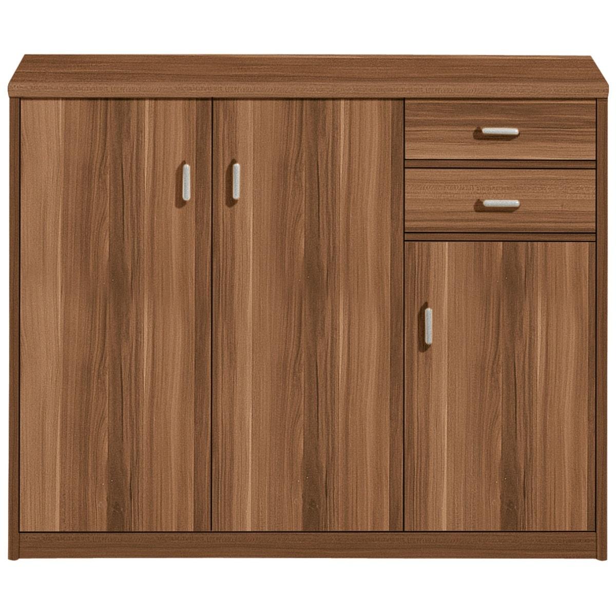 mehrzweckschrank soft nussbaum nachbildung ca 106 x 84 x 36 cm porta. Black Bedroom Furniture Sets. Home Design Ideas