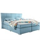 SELF Boxspringbett LOGAN Microvelour Aqua ca. 180 x 200 cm Bild 1