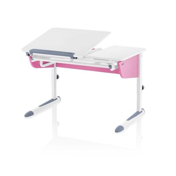 Schreibtisch Weiß/Rosa ca. 115 x 54 x 73 cmBild 1
