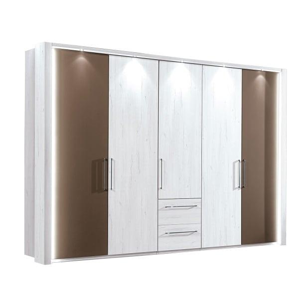 vito Kleiderschrank Polar-Lärche Nachbildung ca. 300 x 216 x 58 cm ...