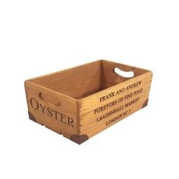 FM Holzbox /Holzkiste 10 x 22,5 cm OYSTER Antik Braun