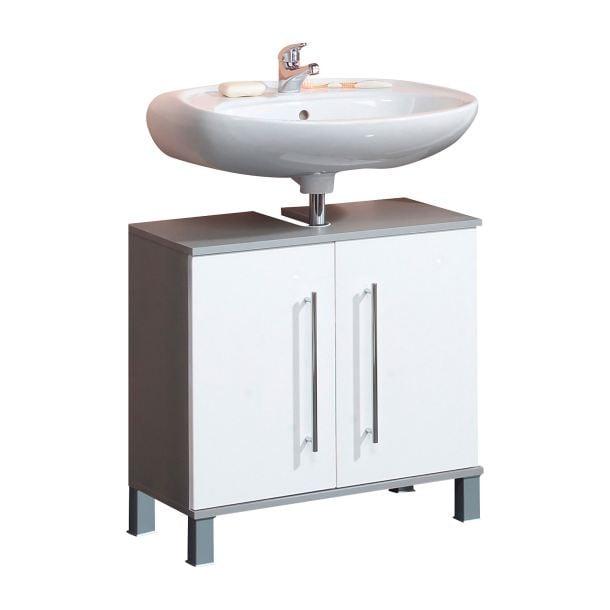 Waschbeckenunterschrank Weiß Hochglanz ca. 65 x 64,5 x 31,3 cm