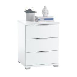 Nachtkonsole SAMSON 46 x 61 x 42 cm weiß