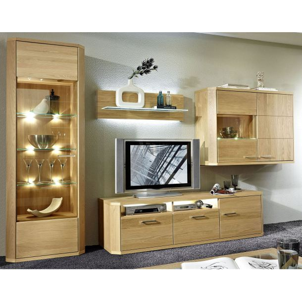 wohnwand eiche natur porta porta m bel onlineshop. Black Bedroom Furniture Sets. Home Design Ideas