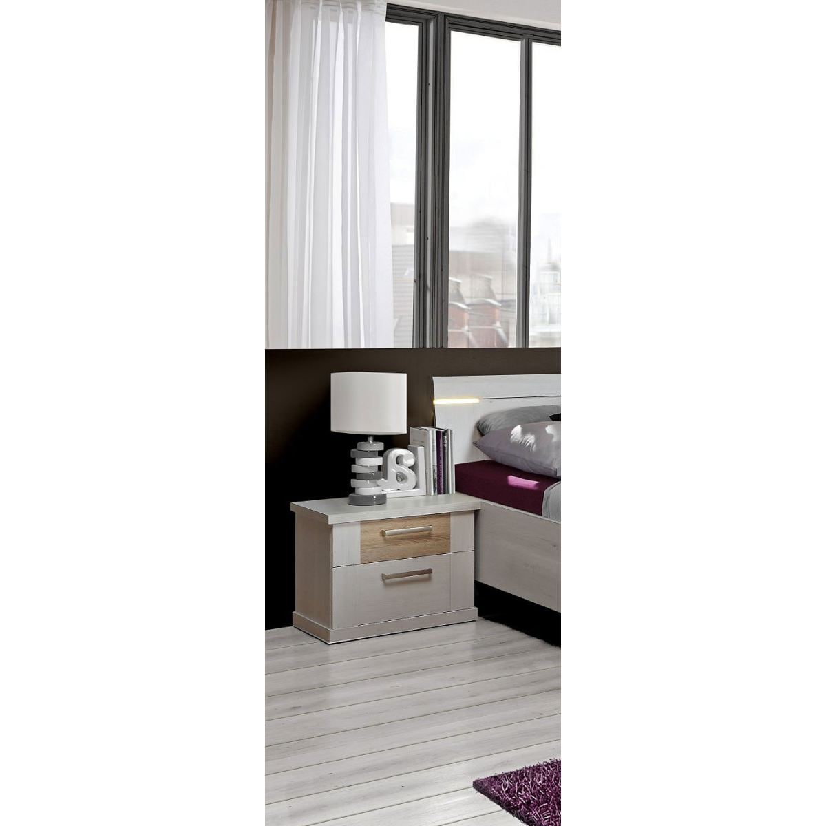 nachtkonsole calais in schneeeiche optik porta null. Black Bedroom Furniture Sets. Home Design Ideas