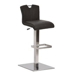 MONDO Bar-/Tresenhocker MOKA Lederlook Schwarz
