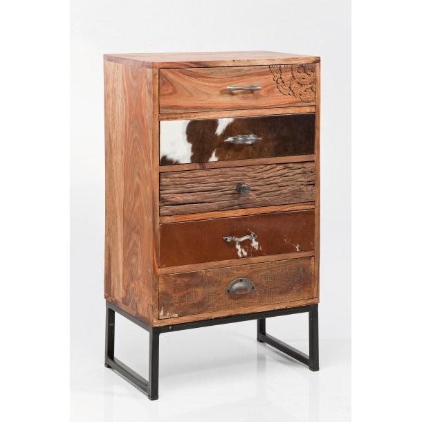kare design kommode rodeo sheesham holz lackiert ca 50 x 89 x 30 cm porta. Black Bedroom Furniture Sets. Home Design Ideas