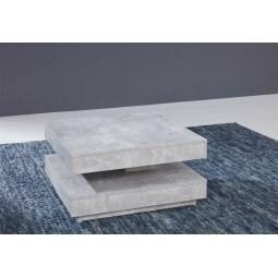 Couchtisch DIRK 70 x 70 cm Holznachbildung grau