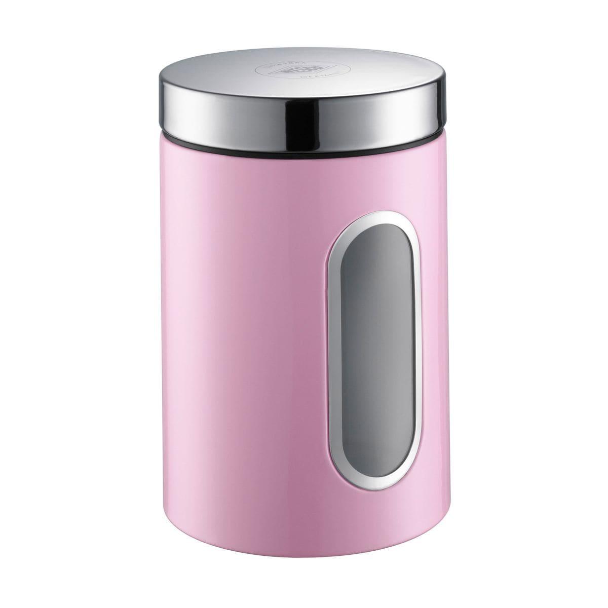 wesco 2 l vorratsdose mit fenster canister rosa porta. Black Bedroom Furniture Sets. Home Design Ideas