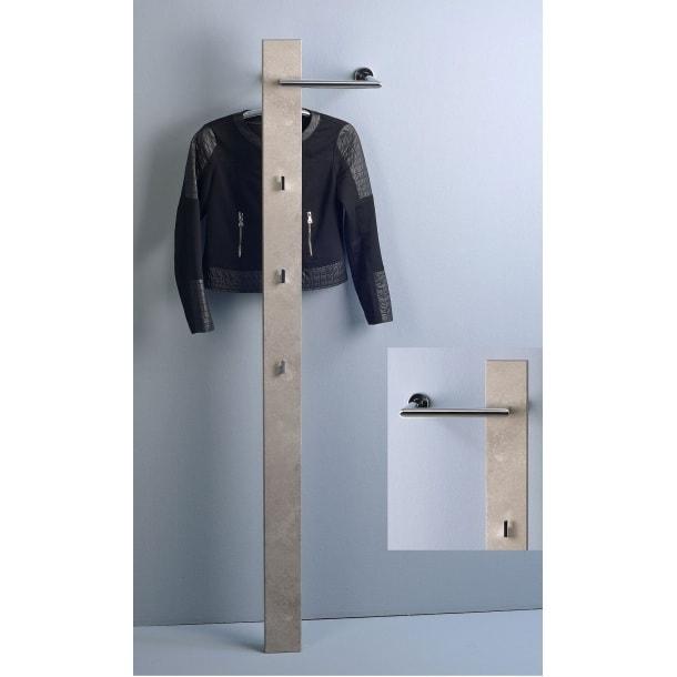 Garderobe in dekor betonoptik ca 30 x 185 x 25 cm porta for Garderobe 30 cm