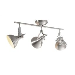 casaNOVA Retrofit Deckenlampe mit 3 Spots CAMBRIDGE Nickelfarbig