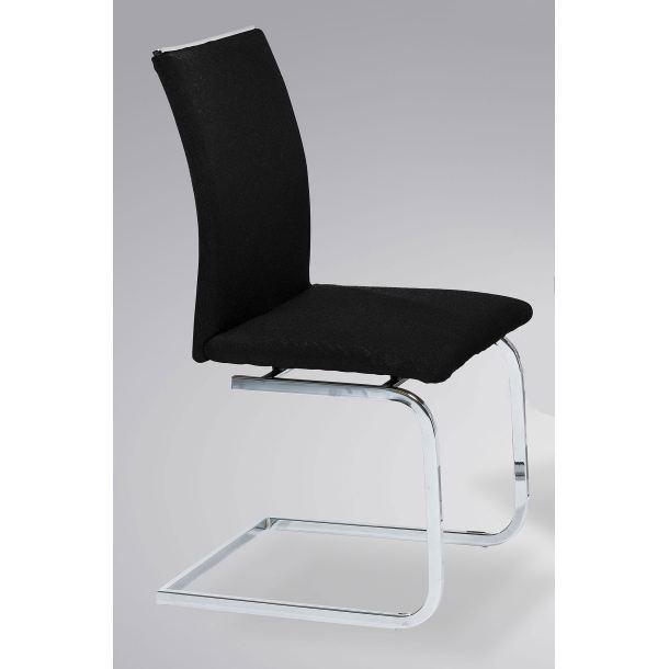 stuhl willi mit stoffbezug in schwarz porta porta. Black Bedroom Furniture Sets. Home Design Ideas