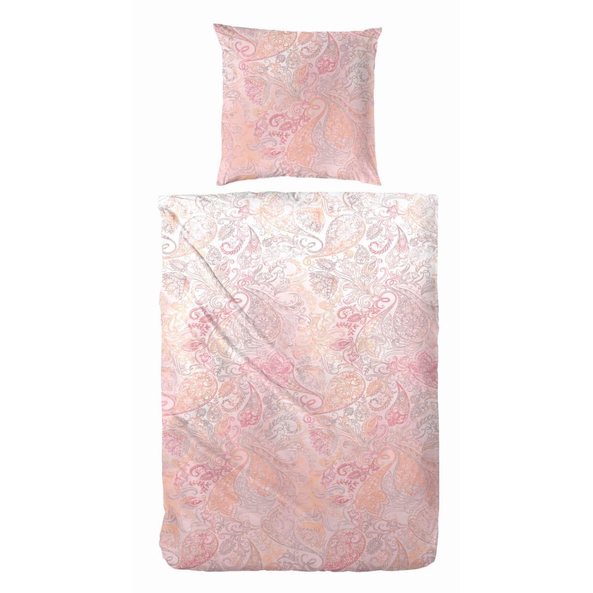 hahn bettw sche rosa orange 155 x 220 cm porta null. Black Bedroom Furniture Sets. Home Design Ideas