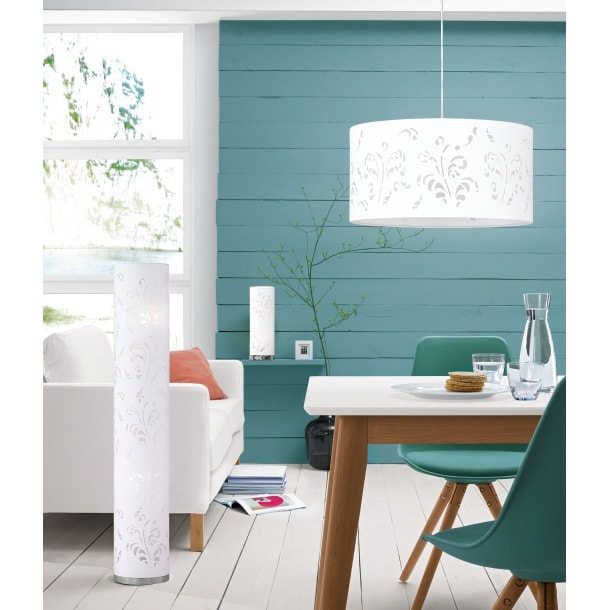 fischer honsel stehlampe 2 flg flora braun mit. Black Bedroom Furniture Sets. Home Design Ideas