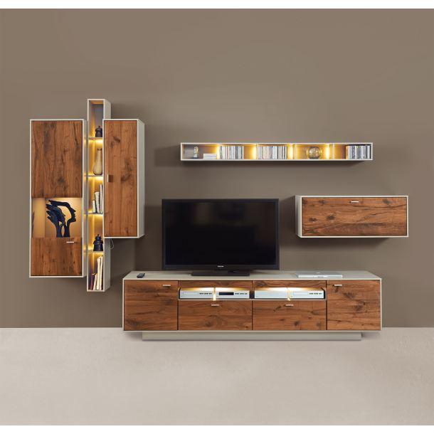 mondo wohnwand cava lack fango wildnussbaum porta null. Black Bedroom Furniture Sets. Home Design Ideas