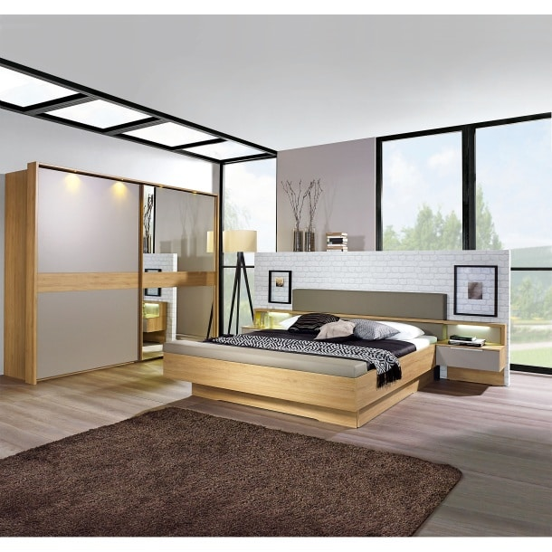 mondo schlafzimmer gevara wildeiche natur nachbildung ca 180 x 200 cm porta. Black Bedroom Furniture Sets. Home Design Ideas