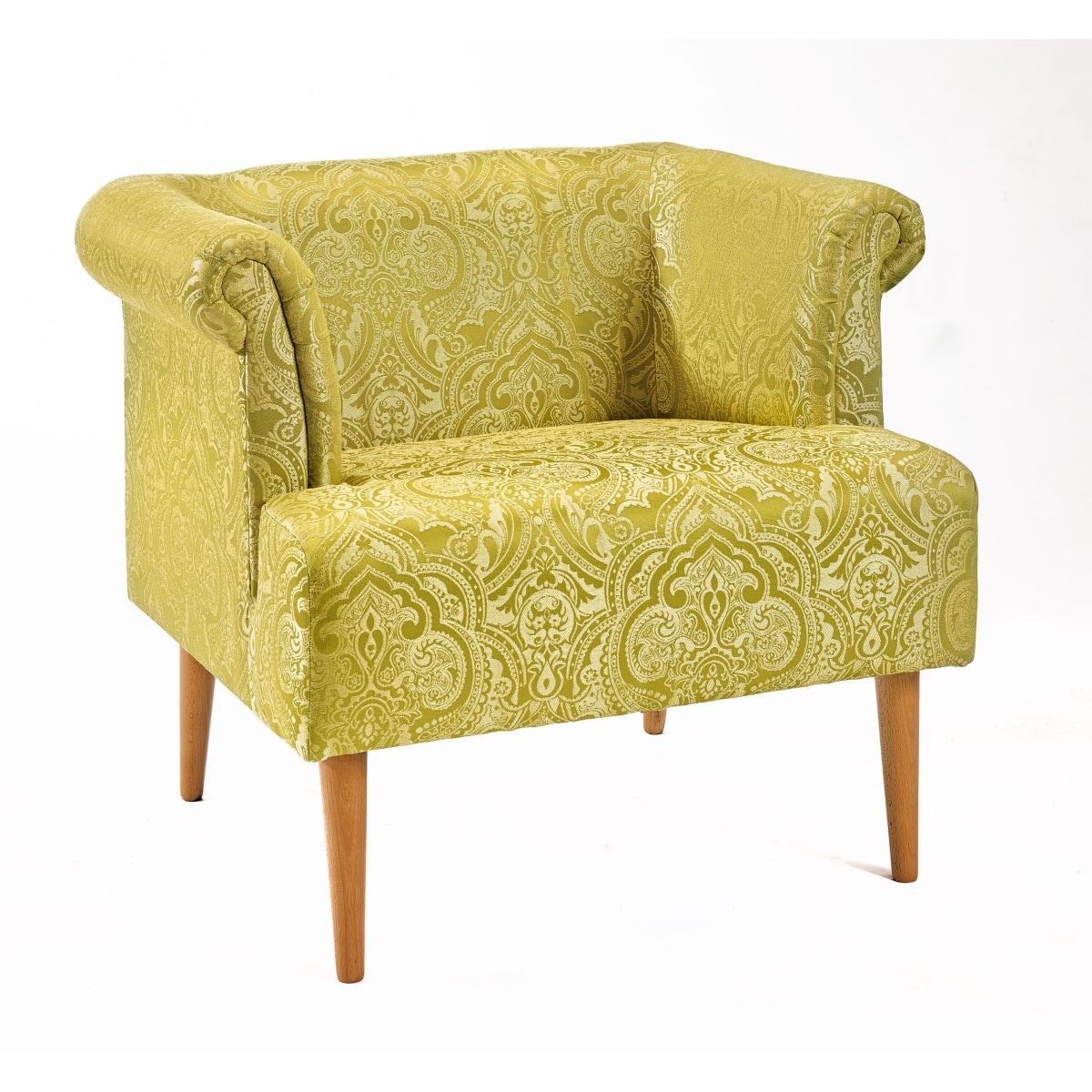 Sessel gemustert  INTERhome Sessel SWING Stoffbezug Gelb gemustert ca. 87 x 71 x 73 ...