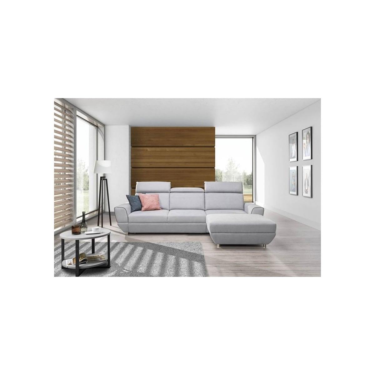 Phill hill polsterecke cozy stoffbezug grau ca 290 x 197 for Ecksofa porta