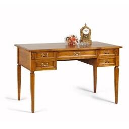 Schreibtisch kirschbaumfarbig ca. 131 x 77 x 70 cm
