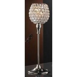 casaNOVA Kerzenleuchter /Windlicht H 40 SILENT WINTER Glaskristall