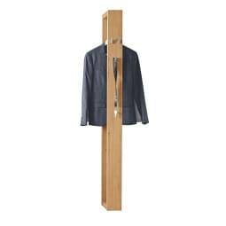 Garderobenpaneel 32 x 13 x 172 cm Holznachbildung braun