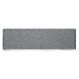 GÖZZE Fransentischläufer DAWSON 40 x 140 cm grau/silber