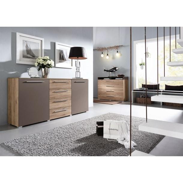 mondo kommode casante eiche sanremo hell nachbildung ca 182 x 84 x 41 cm porta. Black Bedroom Furniture Sets. Home Design Ideas