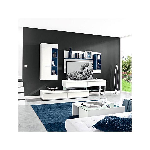 mondo wohnwand sonata wei porta. Black Bedroom Furniture Sets. Home Design Ideas