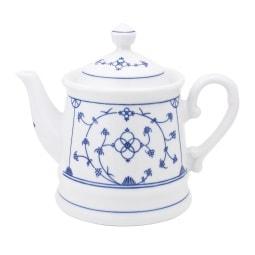 KAHLA Teekanne /Kanne 1,2 l BLAU SACS Weiß mit blauem Dekor