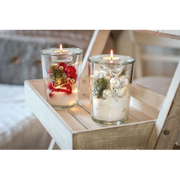 leonardo weihnachten windlicht vase mit tischlicht led