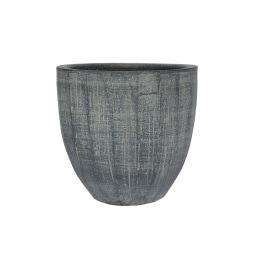 Blumentopf /Übertopf aus Keramik H 16 /Ø 17 RELIEF II Schiefergrau