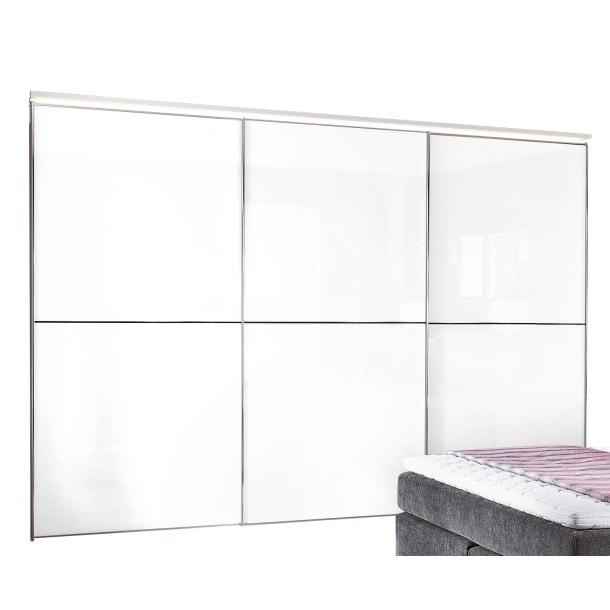 STAUD Schwebetürenschrank 280 x 222 x 68 cm Holz weißBild 1