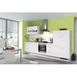 FAKTA Küchenzeile Weiß matt/Polar Pinie Dekor ca. 320 cm